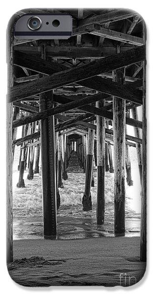 Balboa iPhone Cases - Under Balboa Pier in Newport Beach iPhone Case by Ana V  Ramirez