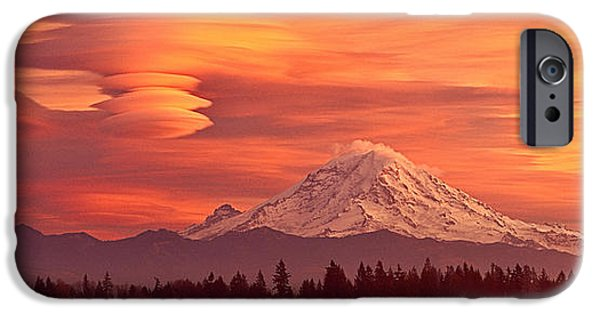 Pm iPhone Cases - Under Orange Skies iPhone Case by Don Hall