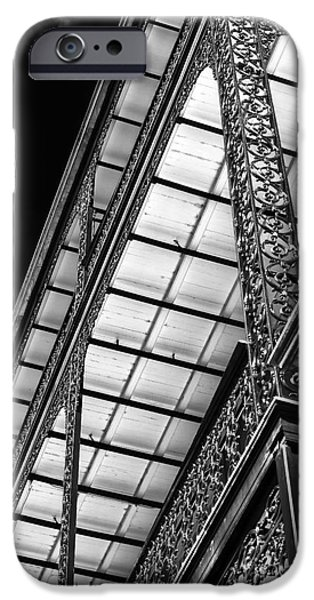 Monotone iPhone Cases - Under the Balcony iPhone Case by John Rizzuto