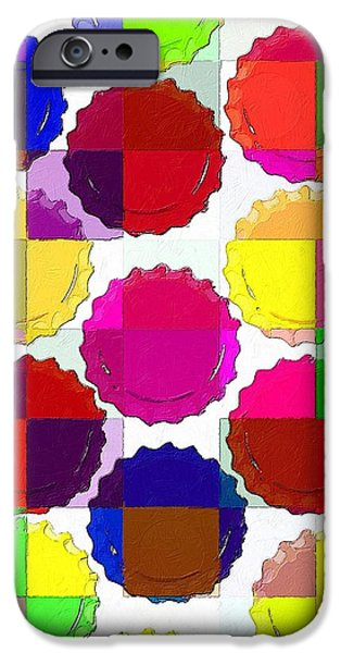 Bottlecaps iPhone Cases - Under the Blanket of Colors iPhone Case by Florian Rodarte