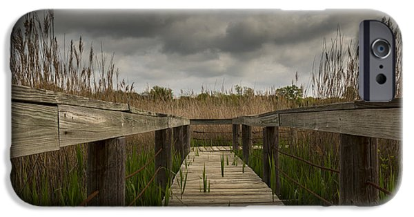 Nature Center iPhone Cases - Under The Boardwalk iPhone Case by Jonathan Davison