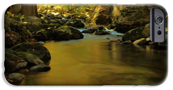 Comfortable Art iPhone Cases - Under The Bridge In Autumn iPhone Case by Dan Sproul