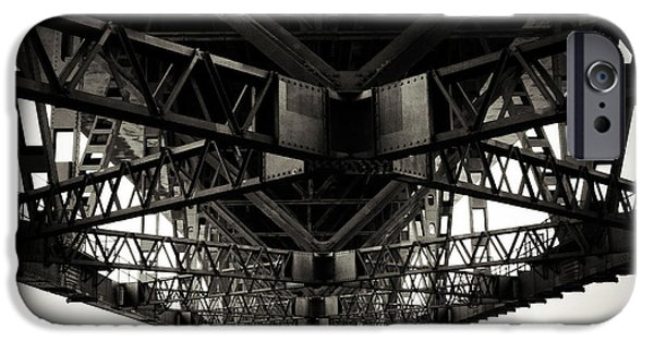 Steel iPhone Cases - Under the bridge iPhone Case by Les Cunliffe