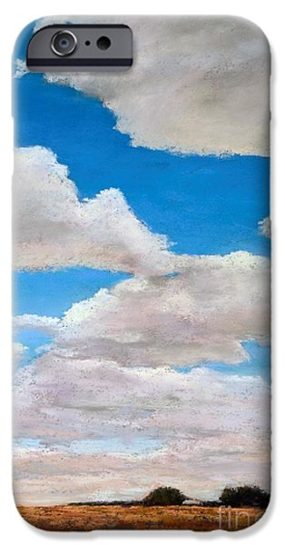 Field. Cloud Pastels iPhone Cases - Under the Clouds iPhone Case by Xenia Sease