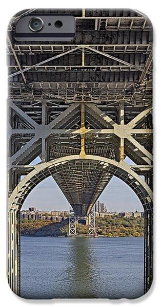 Foliage iPhone Cases - Under The George Washington Bridge I iPhone Case by Susan Candelario
