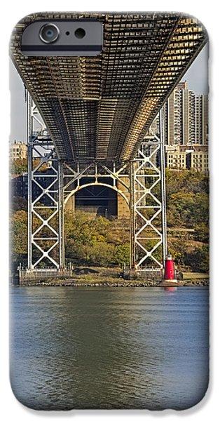 Foliage iPhone Cases - Under The George Washington Bridge II iPhone Case by Susan Candelario