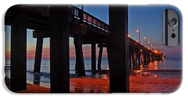 Michael iPhone Cases - Under The Gulf State Pier  iPhone Case by Michael Thomas