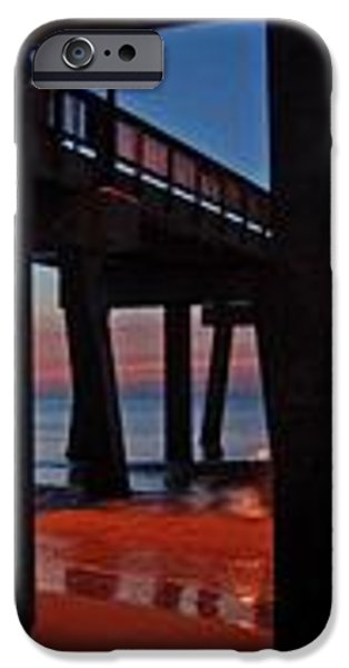 Under The Gulf State Pier  iPhone Case by Michael Thomas