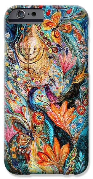 Flowers On Canvas Art iPhone Cases - Under the light of Menorah iPhone Case by Elena Kotliarker