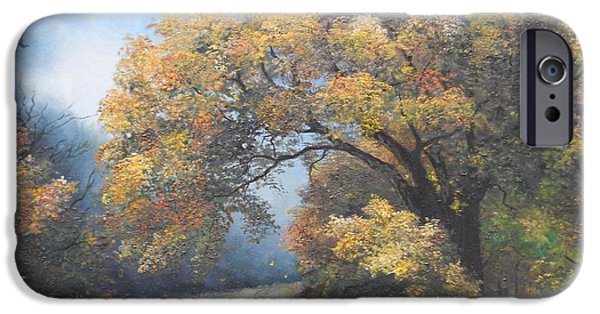 Autumn iPhone Cases - Under the moonlight  iPhone Case by Sorin Apostolescu