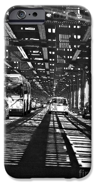 Sarah Loft iPhone Cases - Under the One Train in the Bronx iPhone Case by Sarah Loft