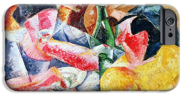 Italian Wine Paintings iPhone Cases - Under the Pergola at Naples iPhone Case by Umberto Boccioni