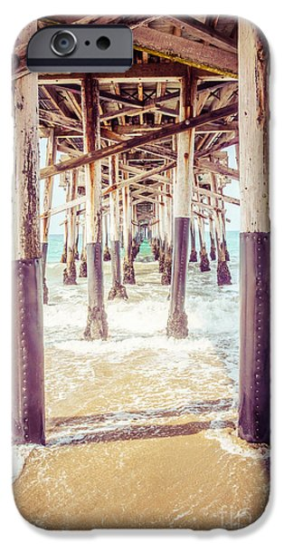 Orange County iPhone Cases - Under the Pier in Southern California Picture iPhone Case by Paul Velgos