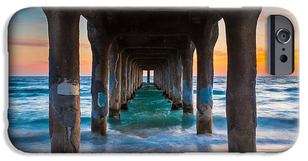 Pillars iPhone Cases - Under the Pier iPhone Case by Inge Johnsson