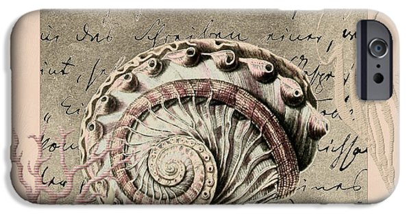 Coastal Decor Digital iPhone Cases - Under the Sea iPhone Case by Bonnie Bruno