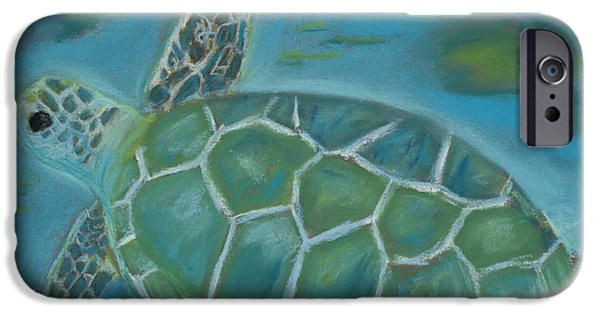 Aquatic Pastels iPhone Cases - Under the Sea iPhone Case by Mary Benke