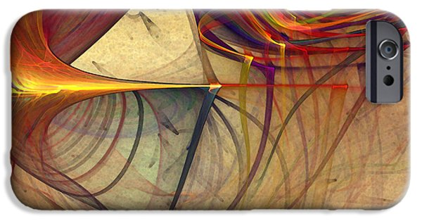 Abstract Expressionism Digital iPhone Cases - Under the Skin-Abstract Art iPhone Case by Karin Kuhlmann