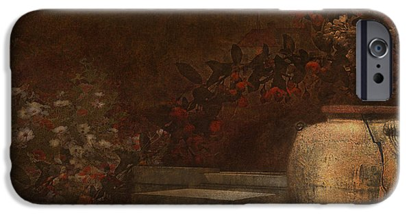 Garden Scene Digital iPhone Cases - Under the Surface of Things iPhone Case by Jeff Burgess