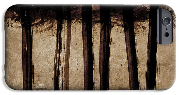 Abstractions iPhone Cases - Under the Trees iPhone Case by Carol Leigh