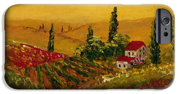 Aceo iPhone Cases - Under the Tuscan Sun iPhone Case by Darice Machel McGuire