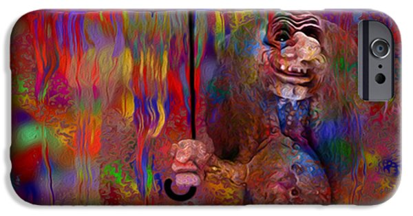 Airbrush iPhone Cases - Under The Umbrella iPhone Case by Jack Zulli