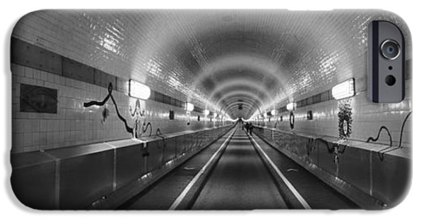 The Way Forward iPhone Cases - Underground Walkway, Old Elbe Tunnel iPhone Case by Panoramic Images