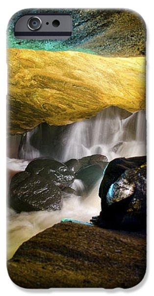 Underground waterfall 2 iPhone Case by Mark Papke