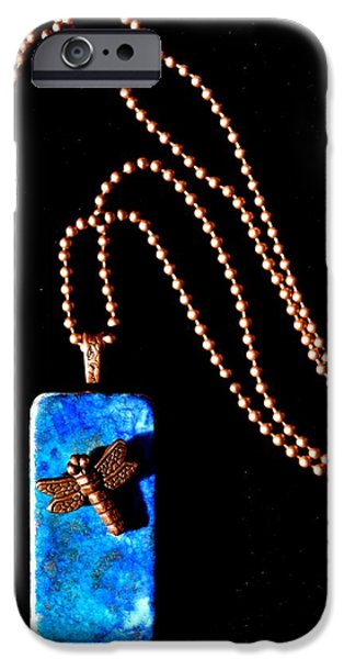 Nature Abstracts Jewelry iPhone Cases - Understanding Truth Domino Pendant iPhone Case by Beverley Harper Tinsley