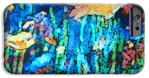 Aquatic Pastels iPhone Cases - Underwater Landscape iPhone Case by Tolere