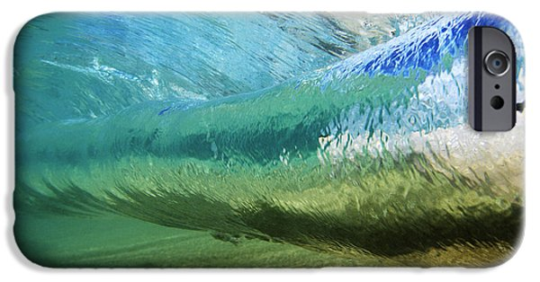 Sand iPhone Cases - Underwater Wave Curl iPhone Case by Vince Cavataio - Printscapes