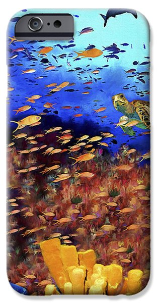 Grunts iPhone Cases - Underwater Wonderland iPhone Case by David Wagner