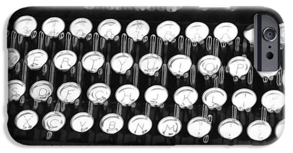 Typewriter Keys iPhone Cases - Underwood Typewriter Keys iPhone Case by Dan Sproul