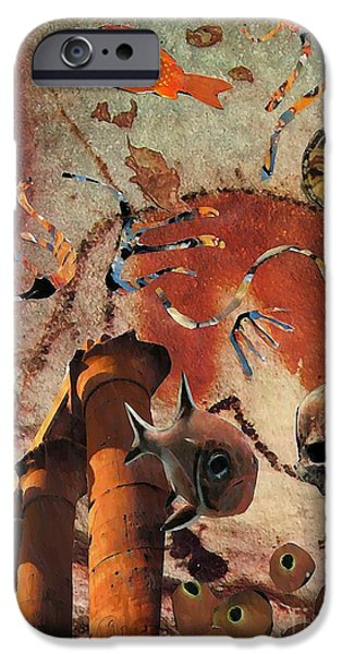 Ruin Mixed Media iPhone Cases - Underworld iPhone Case by Sarah Loft