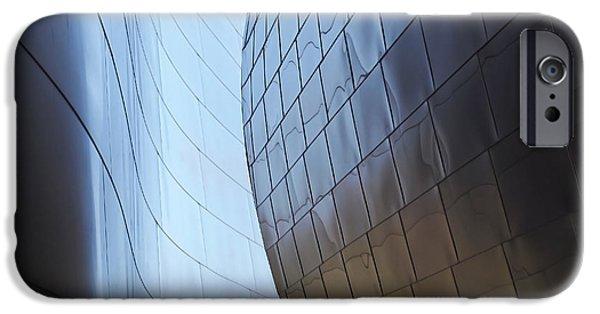 Disney iPhone Cases - Undulating Steel iPhone Case by Rona Black