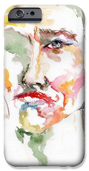 Axl Rose Paintings iPhone Cases - Unfaced iPhone Case by Marina Sotiriou