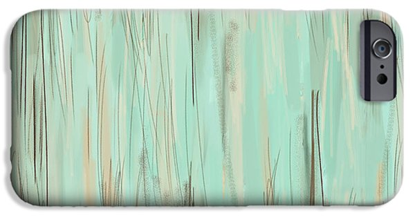 Beige Abstract iPhone Cases - Unfading Memories iPhone Case by Lourry Legarde