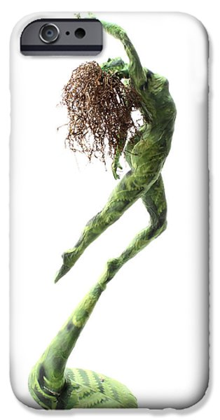 Plants Sculptures iPhone Cases - Unfurled back view iPhone Case by Adam Long