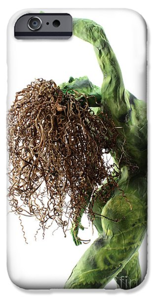 Plants Sculptures iPhone Cases - Unfurled back view detail iPhone Case by Adam Long