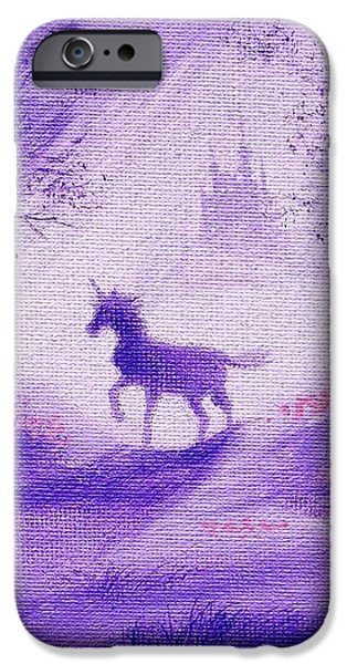 Unicorn And Castle Fairy Tale Fantasy iPhone Case by Tom Hoy