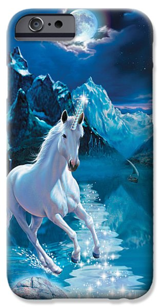 Animals Photographs iPhone Cases - Unicorn iPhone Case by Andrew Farley