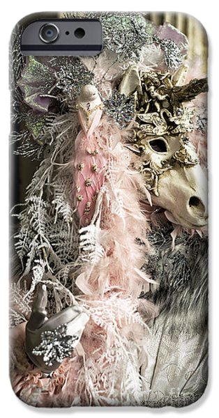 Unicorn Art iPhone Cases - Unicorn at Carnival iPhone Case by John Rizzuto