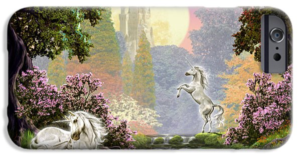 Extinct And Mythical Photographs iPhone Cases - Unicorn New Born iPhone Case by Garry Walton