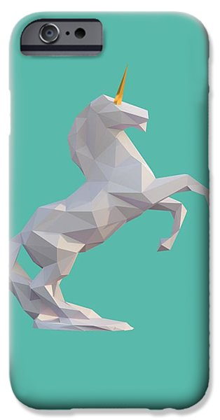 Unicorn Art iPhone Cases - Unicorn iPhone Case by Pollyanna Illustration