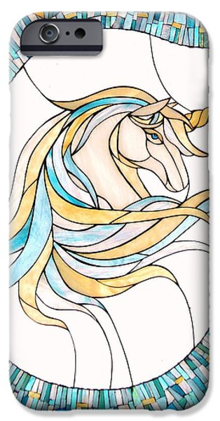 Print Glass iPhone Cases - Unicorn iPhone Case by Suzanne Tremblay