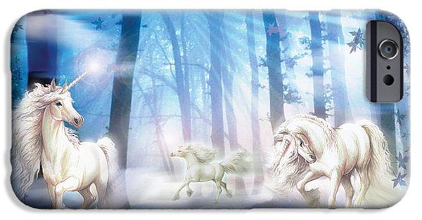 Mythical iPhone Cases - Unicorns iPhone Case by Zorina Baldescu