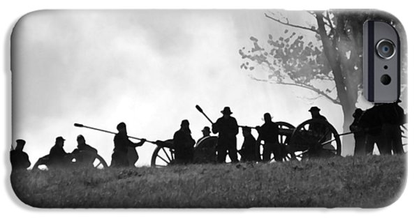 Weapon Tapestries - Textiles iPhone Cases - Union Artillery on Websters Hill - Perryville KY iPhone Case by Thia Stover