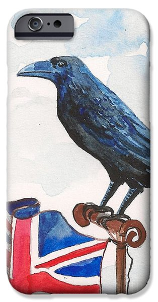 Bruce Springsteen Paintings iPhone Cases - Union Jack iPhone Case by Margaryta Yermolayeva