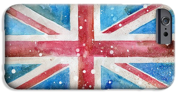 Def Leppard Paintings iPhone Cases - Union Jack iPhone Case by Sean Parnell