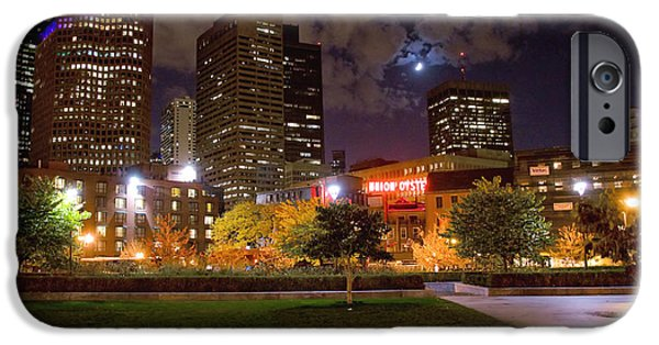 Boston Nightscape iPhone Cases - Union Oyster House iPhone Case by Joann Vitali