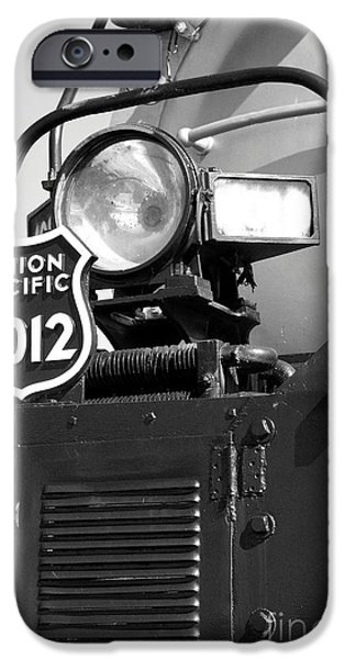 Mechanism iPhone Cases - Union Pacific Big Boy Detail  iPhone Case by Christiane Schulze Art And Photography
